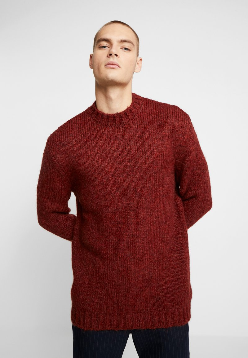 River Island - BOUCLE CREW - Jumper - rust
