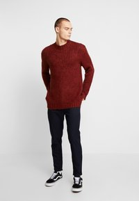 River Island - BOUCLE CREW - Jumper - rust - 1
