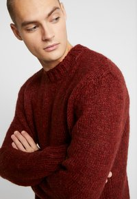 River Island - BOUCLE CREW - Jumper - rust - 3