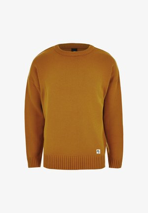 MUSTARD LONG SLEEVE OVERSIZED KNITTED JUMPER - Jumper - yellow