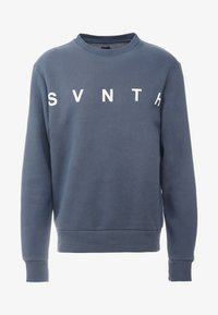 River Island - WASHED PRINTED CREW  - Sweater - blue - 4