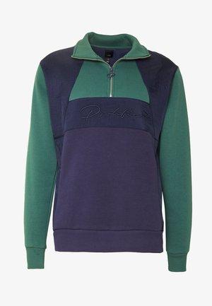 HALF ZIP BLOCK  - Sweatshirt - navy