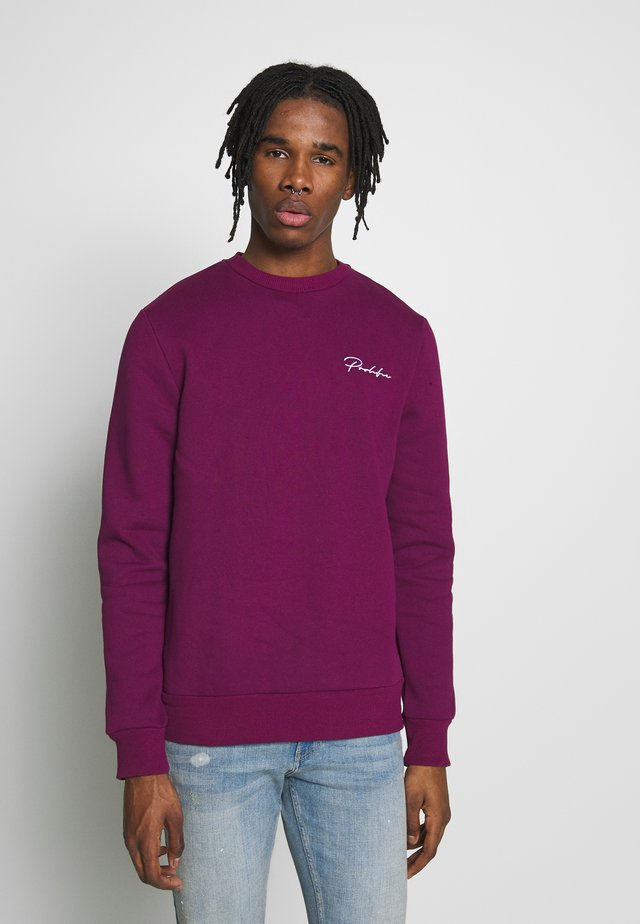 DARK SLIM PROLIFIC CREW - Sweatshirt - purple