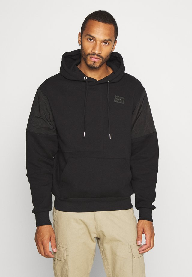 DIVISION PANEL HOODY - Jersey con capucha - black