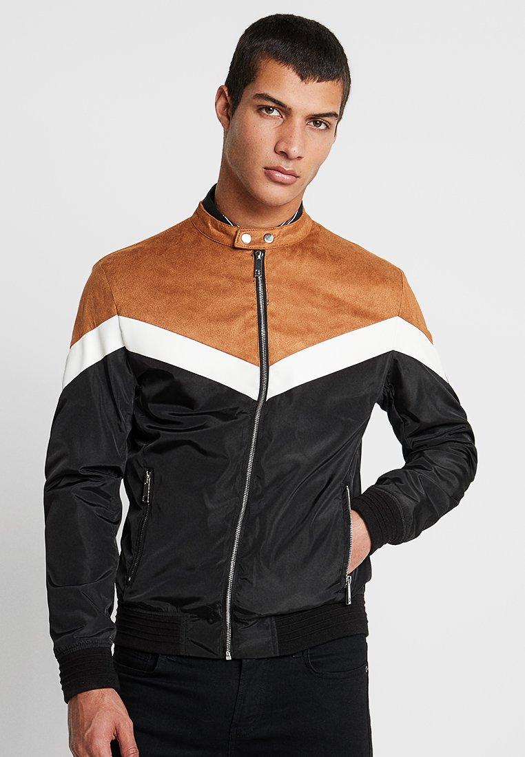 River Island - Faux leather jacket - tan/black