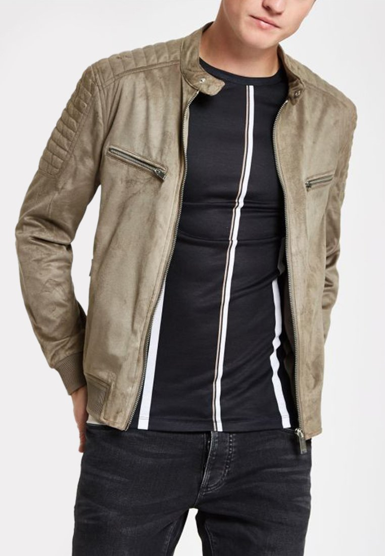 River Island - Faux leather jacket - brown