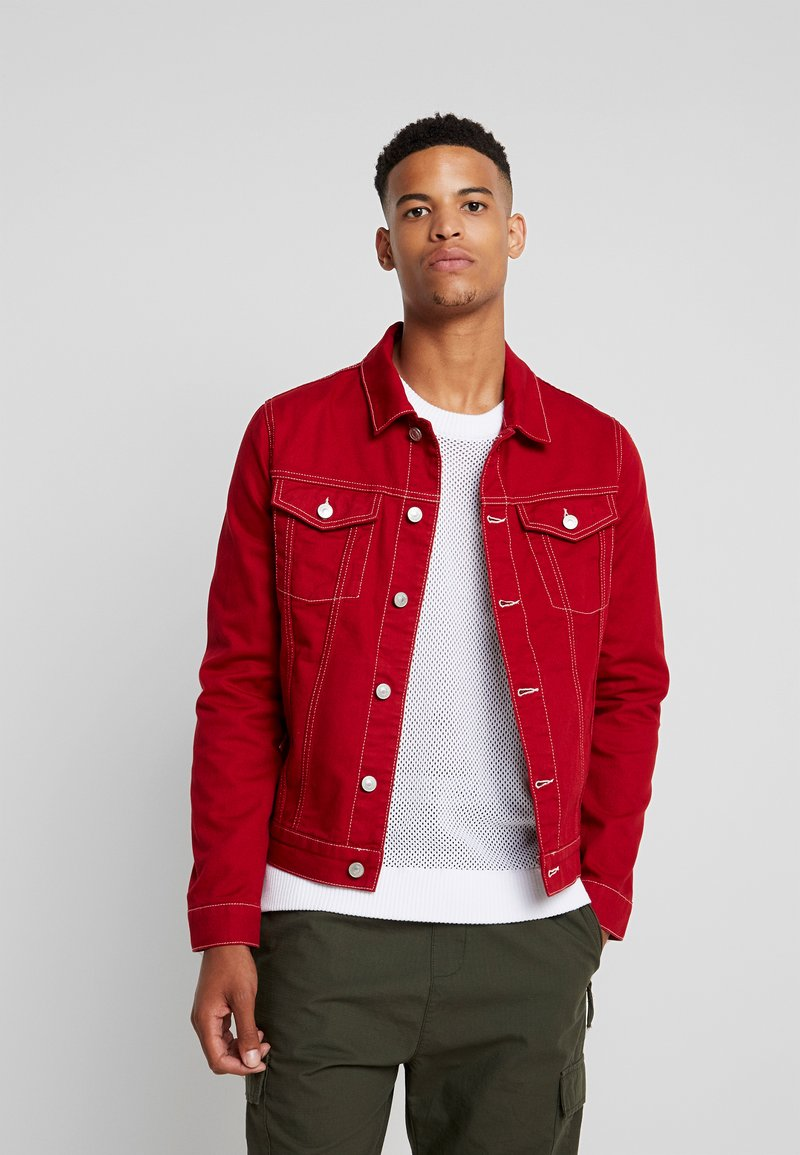 River Island - Denim jacket - red