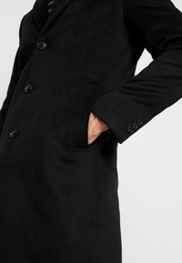 River Island - OVERCOAT - Kappa / rock - black - 5