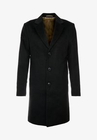 River Island - OVERCOAT - Kappa / rock - black - 4