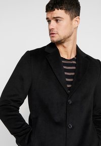 River Island - OVERCOAT - Kappa / rock - black - 3