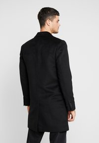 River Island - OVERCOAT - Kappa / rock - black - 2
