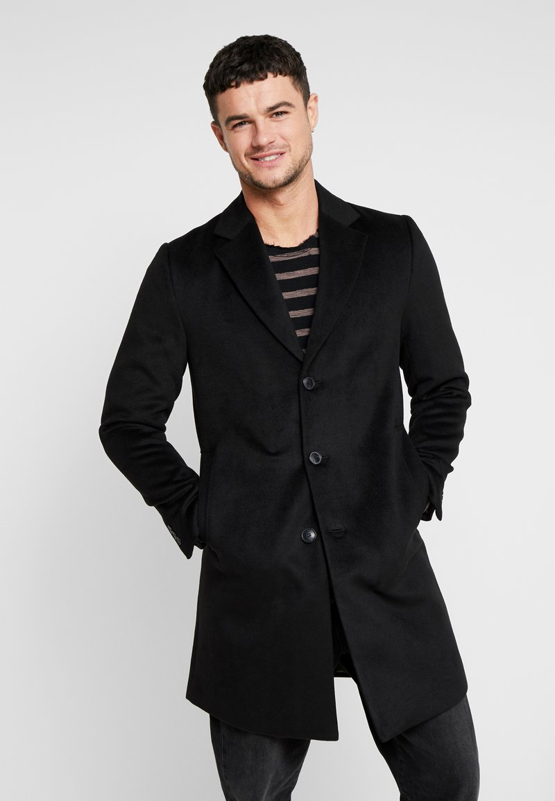 River Island - OVERCOAT - Kappa / rock - black