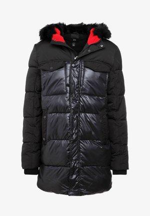 LONG LINE PUFFER - Zimní kabát - black