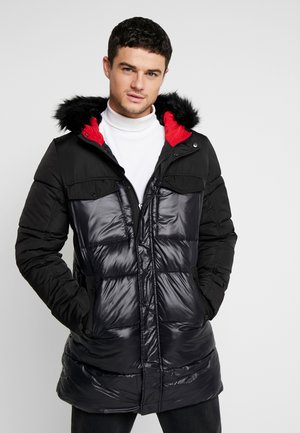 LONG LINE PUFFER - Winterjas - black