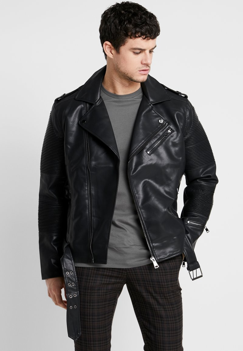 River Island - Faux leather jacket - black