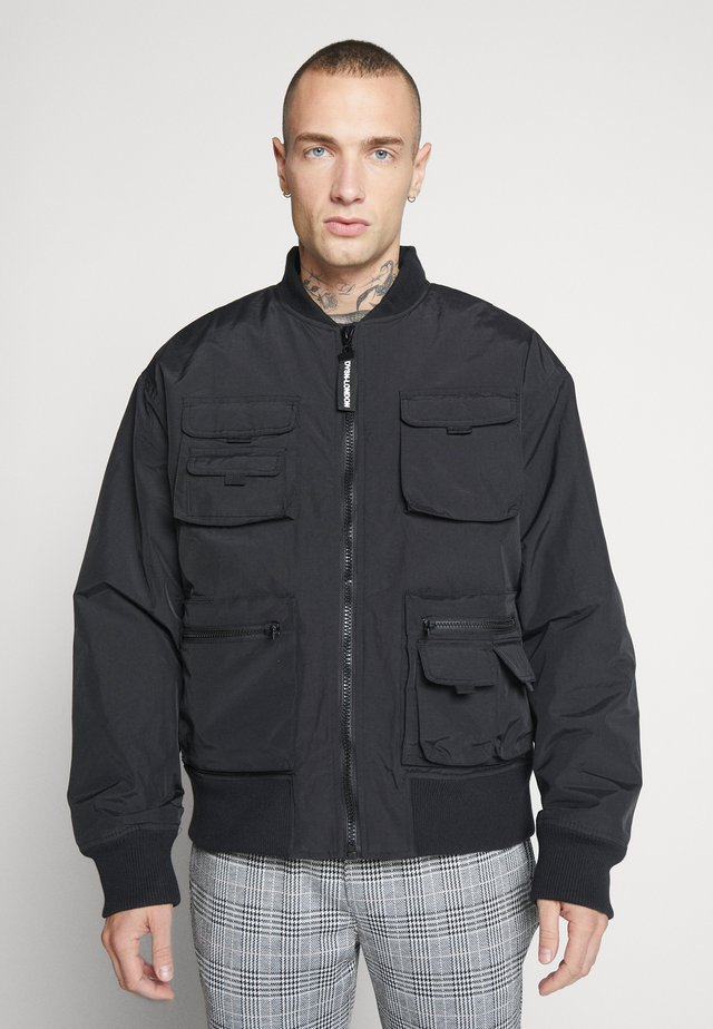 MULTI POCKET UTILITY BOMBER - Bomberjacka - black