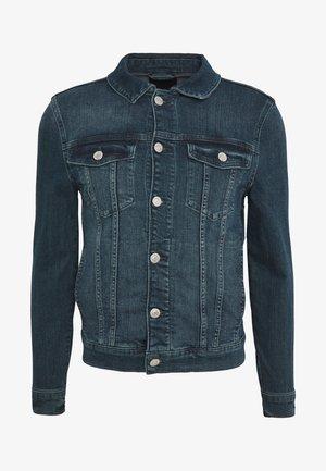 GREEN CAST MUSCLE FIT DENIM JACKET - Denim jacket - mid blue