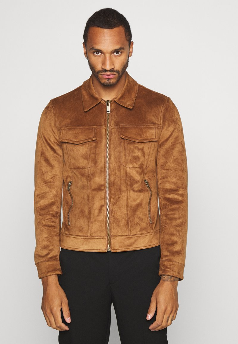 River Island - Faux leather jacket - tan