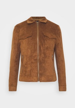 Faux leather jacket - tan
