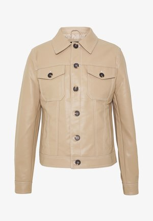 Faux leather jacket - stone