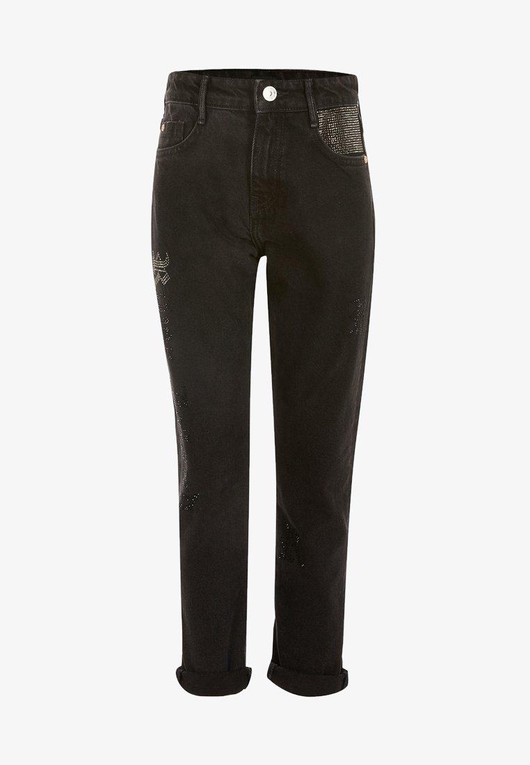 River Island - DIAMANTE - Jeans straight leg - black