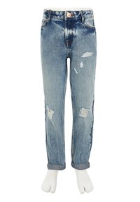 River Island - GIRLS BLUE RIPPED MOM HIGH RISE JEANS - Straight leg jeans - blue - 2