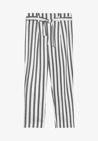 River Island - Spodnie materiałowe - white/black - 3