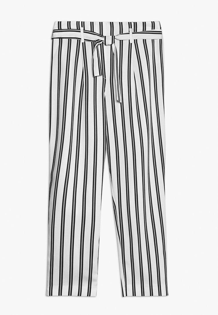 River Island - Spodnie materiałowe - white/black