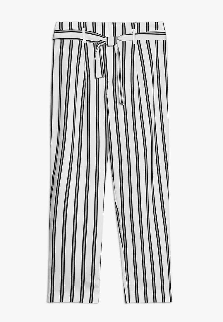 River Island - Trousers - white/black