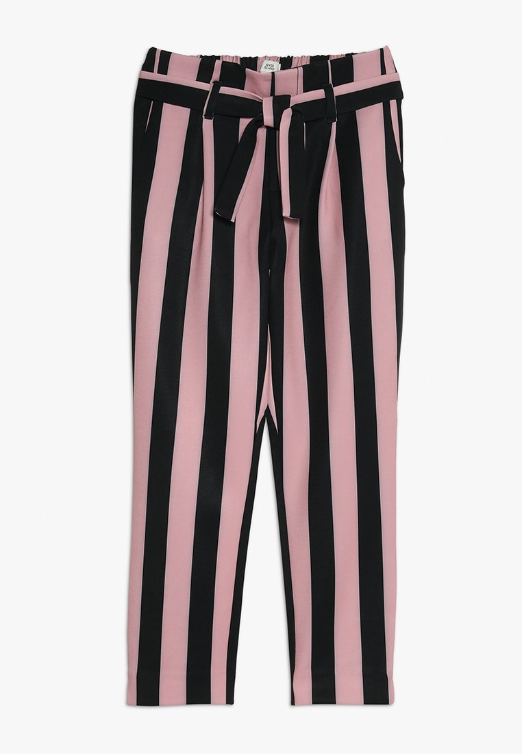 River Island - Trousers - pink/black