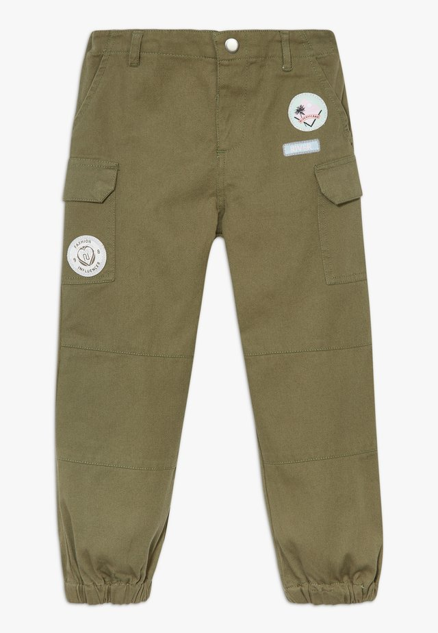 BADGED TROUSER - Cargobyxor - khaki
