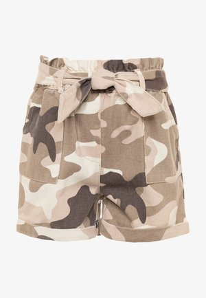 Denim shorts - khaki
