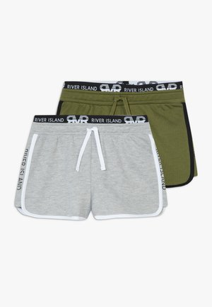 RUNNER 2 PACK  - Kraťasy - grey/khaki