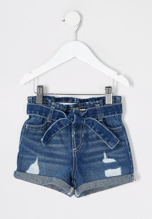 MINI GIRLS BLUE RIPPED DENIM SHORTS - Short en jean - blue