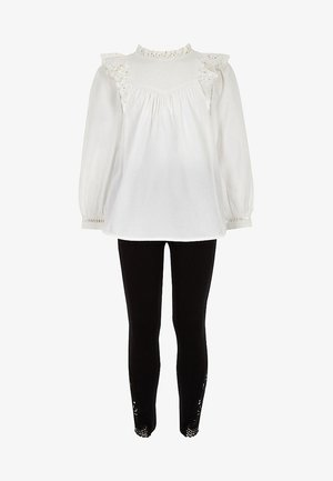 RIVER ISLAND SET - Leggings - cream