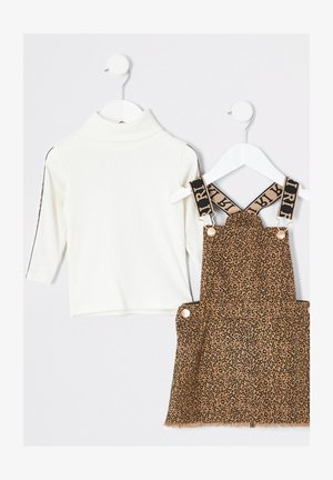 SET - Trui - brown/white