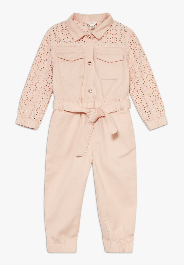 MINI GIRLS BRODERIE BOILERSUIT - Overal - pink light