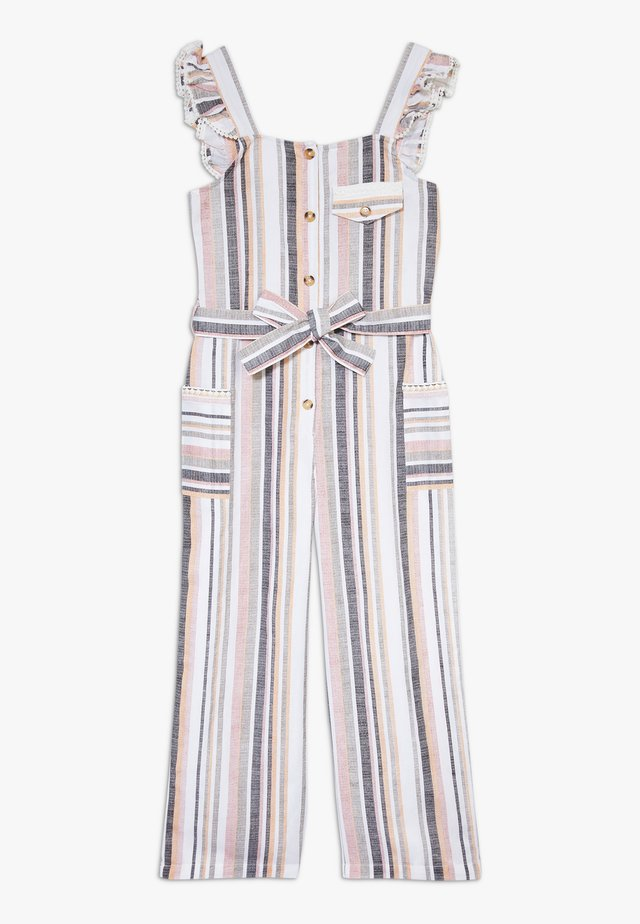 BUTTON FRONT  - Overall / Jumpsuit - brown