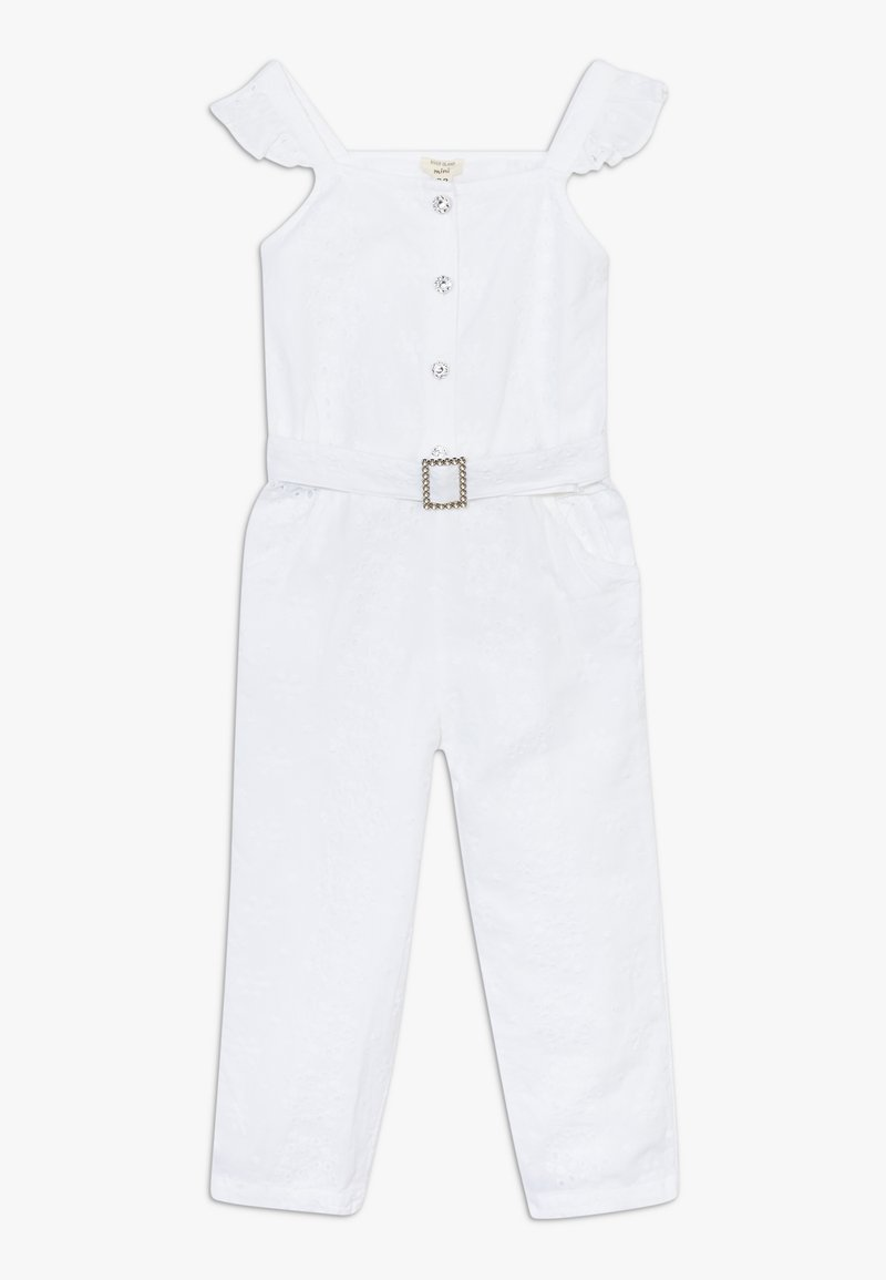 River Island - BRODERIE - Overall / Jumpsuit - white