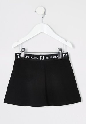 MINI GIRLS BLACK SKATER SKIRT - Jupe trapèze - black