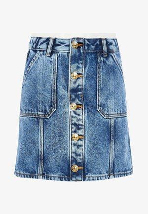 GIRLS BLUE BUTTON FRONT DENIM A LINE SKIRT - A-line skirt - blue