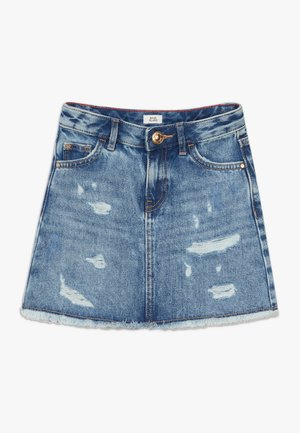 NILE A LINE SKIRT - Denim skirt - blue