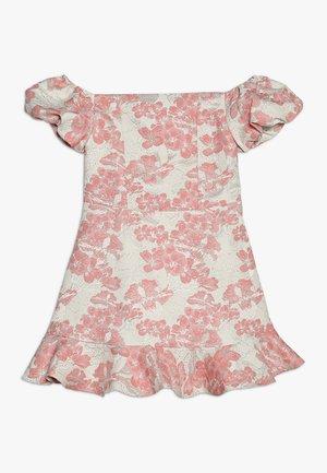 Koktejlové šaty/ šaty na párty - pink/white