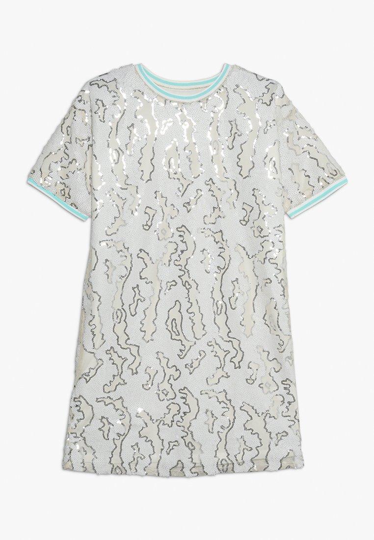 River Island - SEQUIN TEE DRESS - Robe de soirée - cream