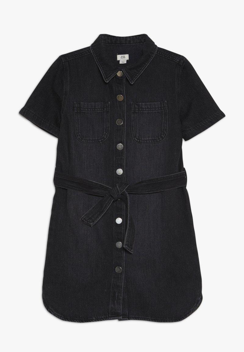 River Island - Denim dress - washed black