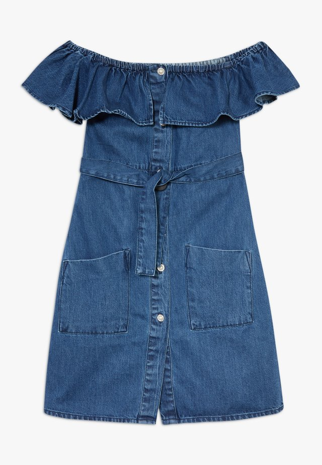 BARDOT DRESS - Jeansklänning - blue