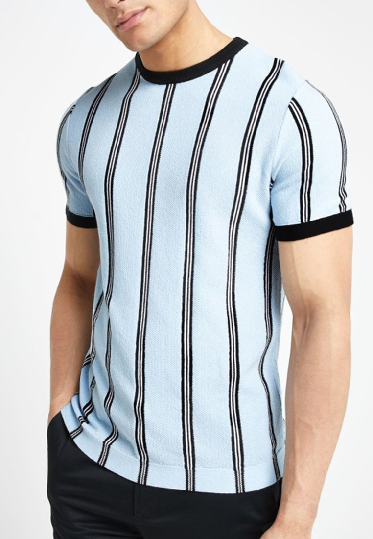 StripeT Blue Imprimé Island shirt River KFTclJ1