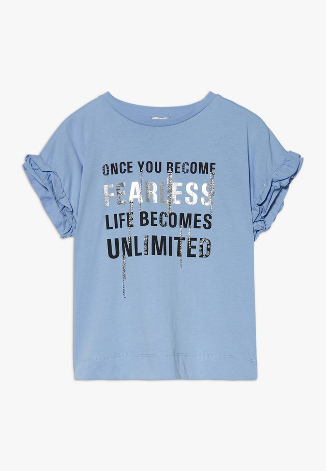 FEARLESS BLING FRILL TEE - Camiseta estampada - blue