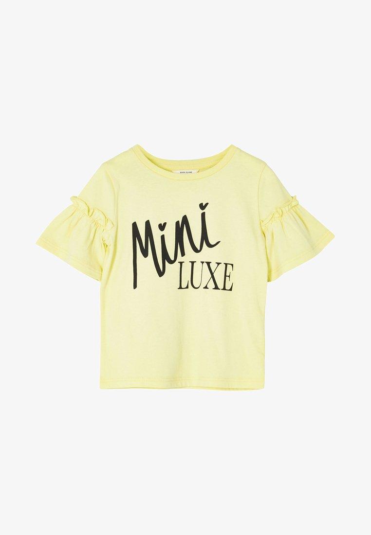 River Island - T-shirt print - yellow