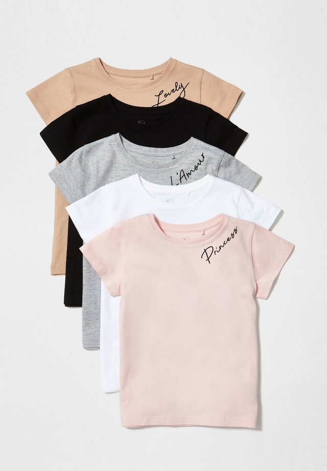 5 PACK - Camiseta estampada - pink